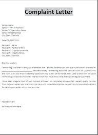complaint letters write a complaint letter template funny  complaint letters write