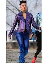 natalie portman vox lux celeste faux leather jacket