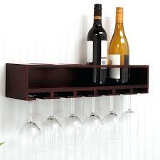 wall mounted wine glass rack shelf claret 4 bottle rustic mo