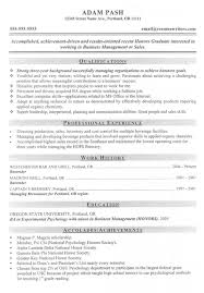 Best Jobs For Mba Good Mba Business Management Or Sales Candidate Resume Best