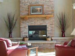 ... Interesting Image Of Interior Decoration Using Ledge Stone Fireplace  Surround : Killer Picture Of Living Room ...