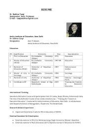 assistant professor resume model
