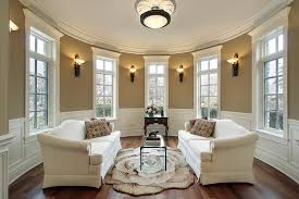 Living Room:Incredible Living Room Design With Flower Shape Rug And Vaulted  Ceilings Also White