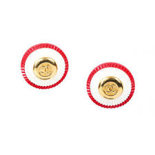 Vintage Chanel <b>Acrylic CC Earrings</b>   eBay
