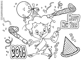 New Year Coloring Pages Free 5650 Celebrations Coloring - ColoringAce