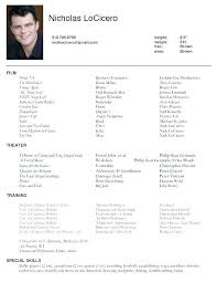 Theatre Resume Templates Best How To Write A Theatre Resume How To Write An Acting Resume Acting