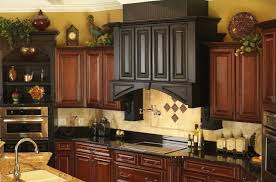 image of decorate top of kitchen cabinets