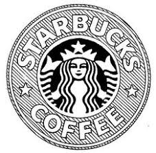 Starbucks Logo Drawing Tumblr Black And White Coffee Art