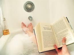 Escaping to a bubble bath & reading