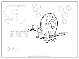 SpongeBob Alphabet Worksheets - Lowercase Letters