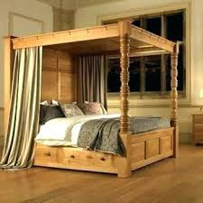 Wooden Post Bed Frames Beds And King Poster 4 Canopy A Nice ...