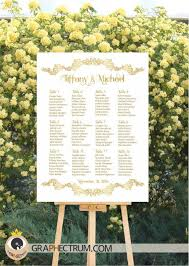 wedding seating chart diy printable fl gold crown wedding sign reception table plan find your seat table assignment board pdf