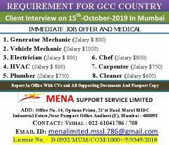 Industrial Electrician Salary Requirement For Gcc Country