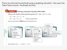 there are alternative methods using a graphing calculator one uses the