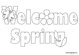 Small Picture welcome spring coloring page AJ Pinterest Spring Quiet book