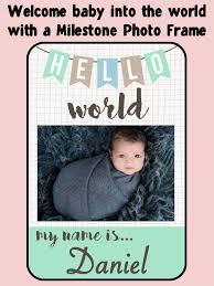 screenshot 1 for baby milestone frames baby photo editor