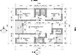 typical floor plan of a 3 bedroom bungalow in one of the housing estates