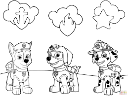 Small Picture Paw Patrol Badges Coloring Page Throughout Printable Coloring