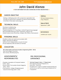 Sample Resume For A Fresh Graduate New Sample Resume Text