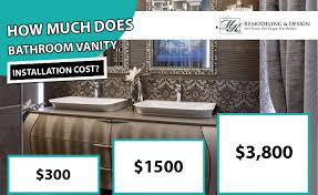 bathroom vanity installation cost 2020