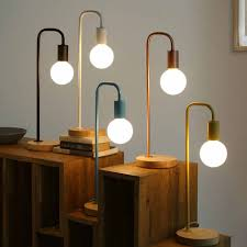 Detail Feedback Questions About Wood Table Lamp Base Oak Nordic