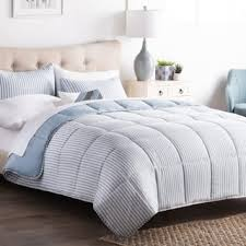cal king comforter. BROOKSIDE Striped Reversible Chambray Down Alternative Comforter Set Cal King T