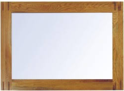 warwick oak wall mirror aston solid oak wall mirror