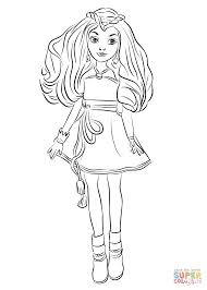 Descendants Coloring Pages Evie From Wicked World Page Free