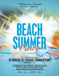 20 Hot Beach And Pool Party Invitation Psd Templates 2018