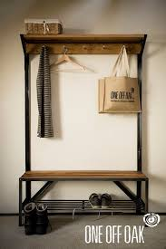 Coat Rack And Shoe Bench English Oak and Steel Coat Rack Bench That time I moved into a 37