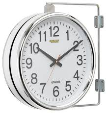 outdoor double sided station clock designs