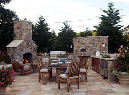 stone barbecue fireplace the