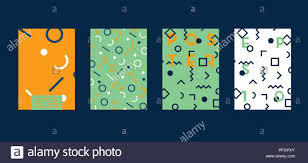 Poster With Flat Geometric Pattern Cool Colorful Backgrounds