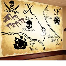 pirate map mural more than vinyl intended for proportions 900 x 900
