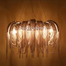 modern luxury chandelier lighting aluminum chain candle chandeliers hanging light for home hotel restaurant decoration
