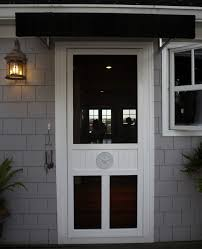Medallion Door White Vinyl - Screen Tight