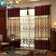single panel curtain. ZHH (Single Panel) Curtain For Living Room/Bedrooms Hotel Blackout Luxury Embroidered Curtains Single Panel