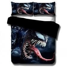 marvel superhero 3d bedding set venom