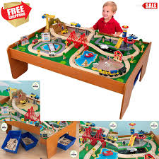 fullsize of popular of available kidkraft wooden train table set thomas friends railway thomas train table