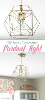 Inexpensive DIY Brass Geometric Globe Pendant Light