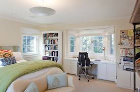 bedroom office desk. Bedroom Workspace With Ample Storage Space [Design: Matarozzi Pelsinger Builders] Office Desk D