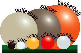 Ball Size Chart Sports Ball Size Comparison