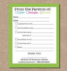 Cute Free Printable Of Absence/change For The School Note | Jaxson ...