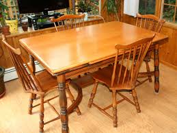 maple wood dining room table. vintage 1940s traditional solid maple dining set, table and four chairs. furniturefurniture wood room