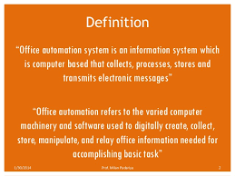 Office automated system Conclusion Ijctt Office Automation System