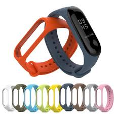 Mi <b>Band</b> 3 <b>Strap Double Color</b> Correa Mi <b>Band</b> 3 Wrist <b>Strap</b> Silicone ...