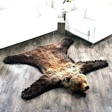 bear skin rug taxidermy rugs blanket meme r faux 5 foot 8 inch cm grizzly