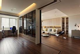 modern private home office. Medium Size Of Home Interior:fabulous Wooden Staircase In The Hallway With Tempered Glass Panel Modern Private Office