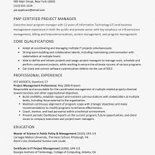 Resume Sample For A Pmp Certified Project Manager Resume