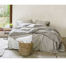 linen duvet cover  rough linen  natural minimalist bedding